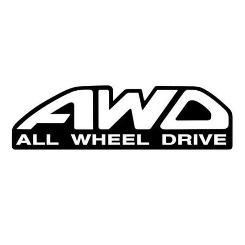 20*5.5CM AWD ALL WHEEL DRIVE Car Sticker Decal 4x4 Wheel Drive Decorative Stickers Car Styling Black/Silver C1-0164(China (Mainland))