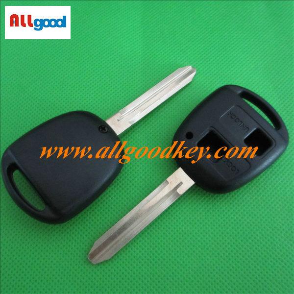 Free shipping wholesale 5pcs/lot 2 button toyota car key blank key shell key case toy43 blade NO LOGO(China (Mainland))