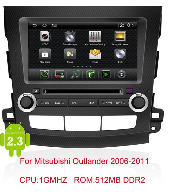 android Car DVD for Mitsubishi Outlander 2006-2011 with1G CPU wifi 3G Support DVR 7inch HD screen audio video player