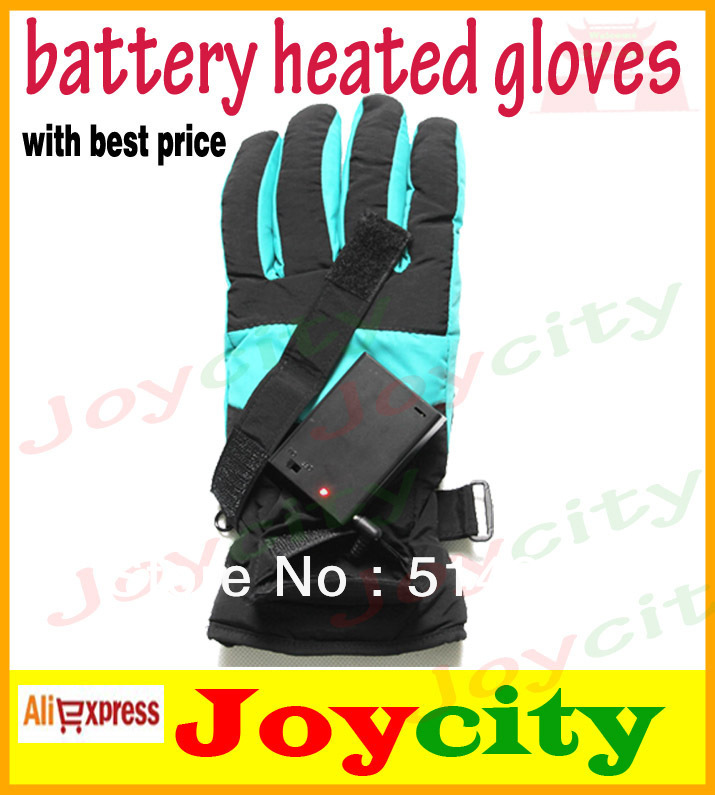 Heated Gloves With Batteries Charger Hands Warmer Ripstop Nylon Fabric For Winter Outdoor Sports Ski Electric JOYCITY(China (Mainland))