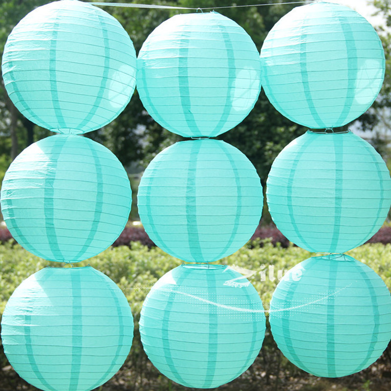 1 Tiffany blue color Chinese paper lantern Spring Wedding home decoration Child party wedding suppliers - Yiwu Zilue Trading Co.,Ltd Store store