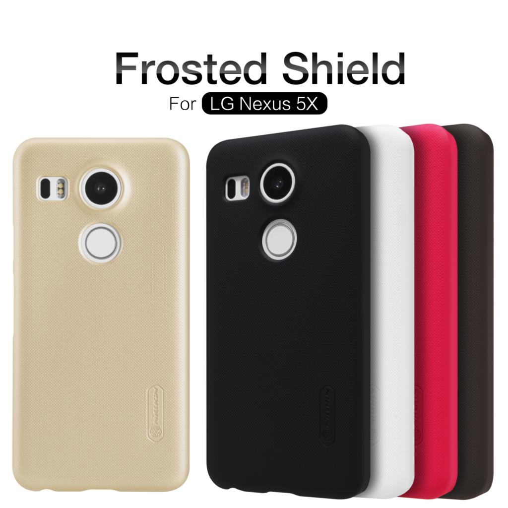 Nillkin Frosted Shield Cell Phone Case For LG /Google Nexus 5X /Nexus 8/Angler/H790 (5.2inch) Hard Back Cover + Screen Protector(China (Mainland))