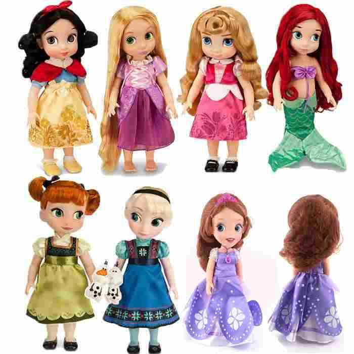 Princesa animadores Sharon boneca princesa Sofia branca de neve Ariel Rapunzel Merida cinderela Aurora Belle princesa dolls para a menina(China (Mainland))