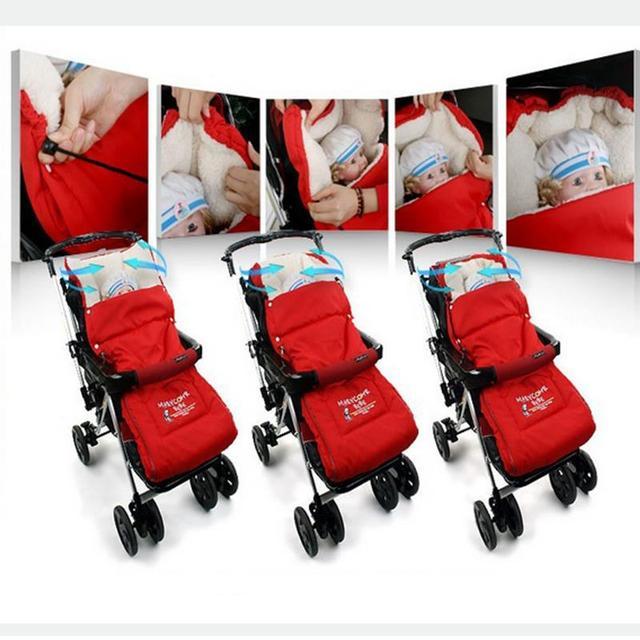 Коляска спальный мешок дети спят мешки коляска конверт толщиной теплая зима ребенка ...