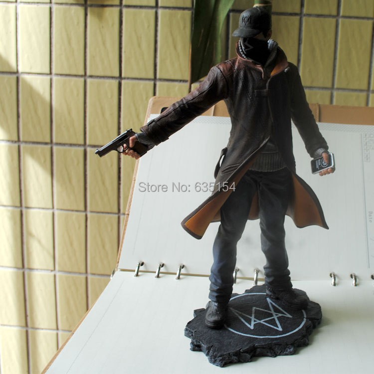 Free Shipping Bran New Hot Game Action Figure Toys Watch Dogs Aiden Pearce 23CM PVC Figure Model Toy For Collection/Gift(China (Mainland))
