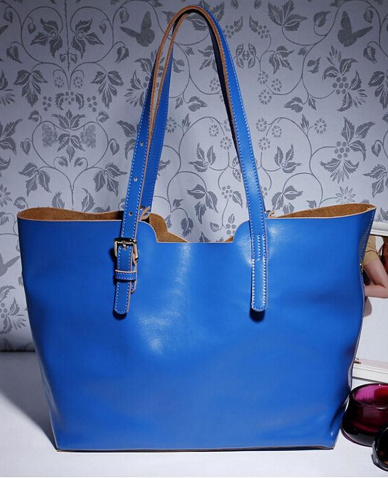 New Fashion Design Women Genuine Leather Handbags Brand Cowhide Shoulder Bags Real Leather Tote Bag Bolsas(China (Mainland))