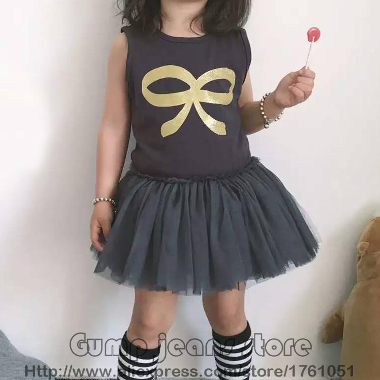 2016 new spring summer bobo choses for girls dresses kids mini rodini rock your baby cute dress clothing nununu tutu vestido(China (Mainland))