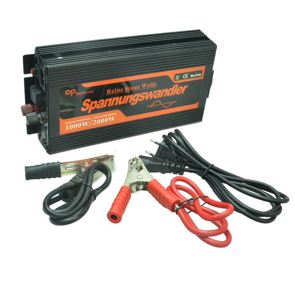 10A Charger + 1000W 12v to 220v Pure Sine Wave Inverter with UPS function(China (Mainland))