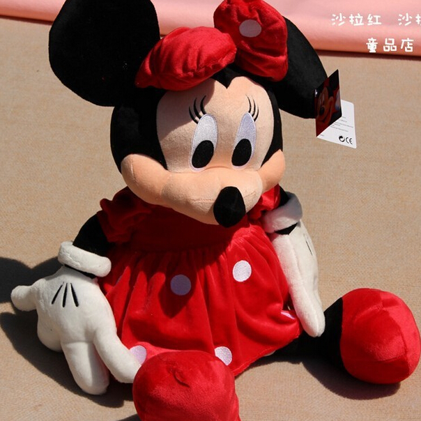 30CM 2pcs/lots Lovely Mickey and Minnie Mouse Stuffed Animal Plush toys for children Gift Lowest Price P008(China (Mainland))