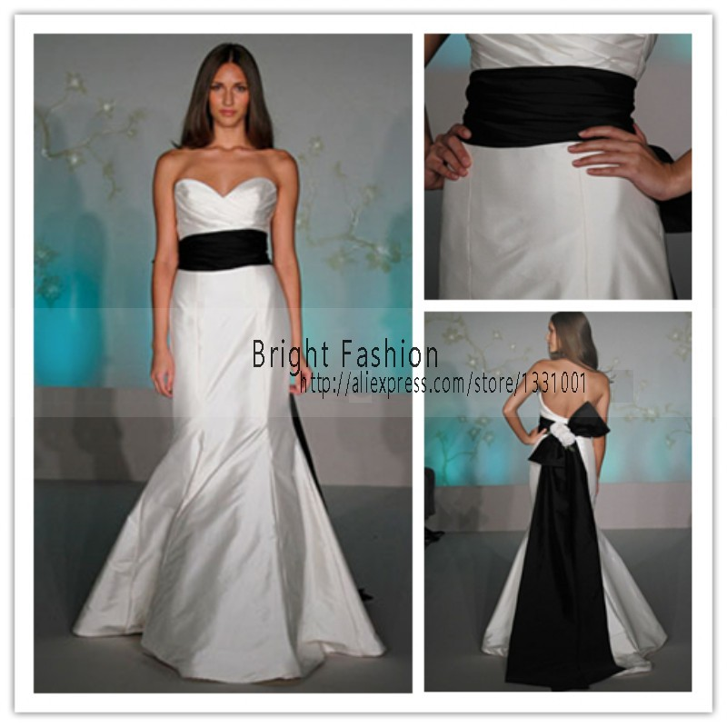 2015 white and black wedding dress sexy off shoulder for White dress for wedding reception