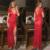 Women New Arrival Deep V Neck Good Selling Chic Backless Babydoll Lace Slit Nightwear Long Nightdress G String Lingerie