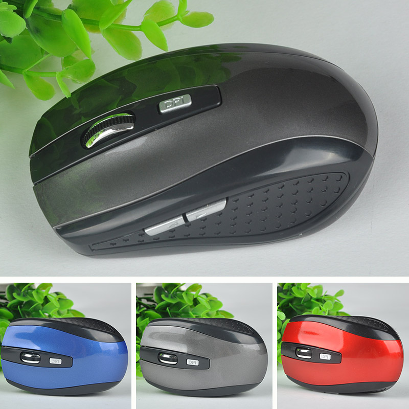 New Wireless USB Receiver Mouse 2.4GHz Optical Mice PC Gameing Mouse For Windows 2000/XP/Win 7/MAC Computer Mouse(China (Mainland))