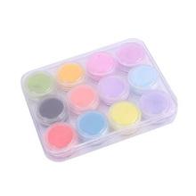 Best Sale New 12 Mix Colors Acrylic Powder Builder Nail Art Set Health Nail Care Box(China (Mainland))