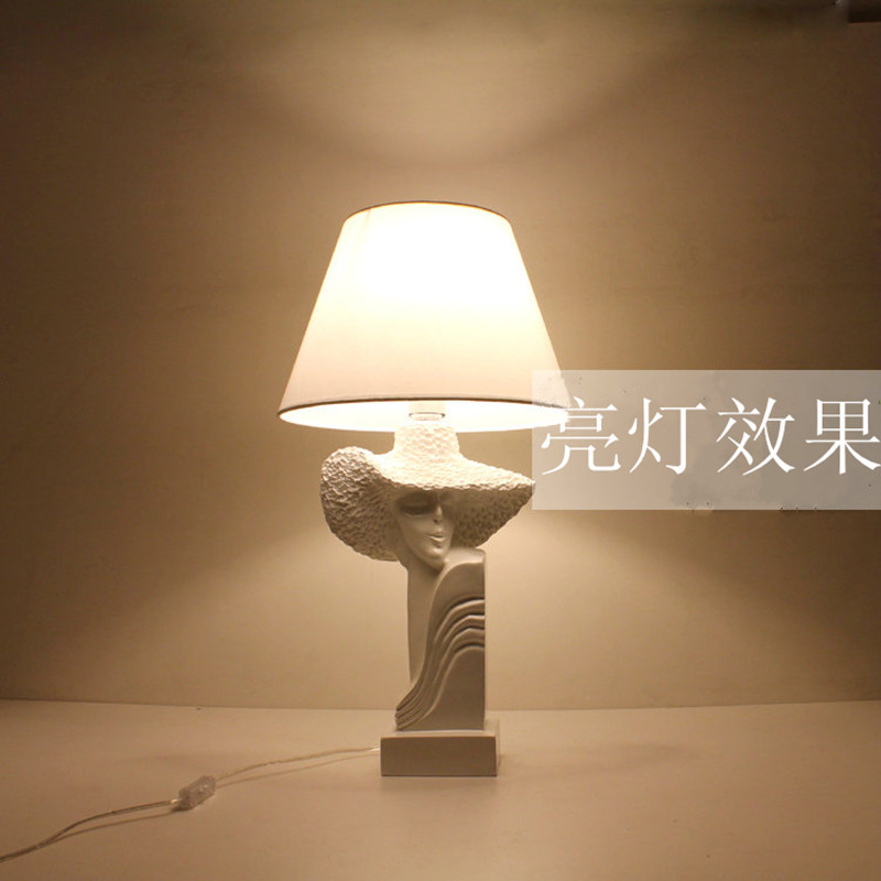 Art Deco table features popular resin lamp bedroom study lamp(China (Mainland))