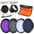 58mm UV CPL FLD ND4 Neutral Density Photography Lens Filter Kit For Canon EOS 600D 700D