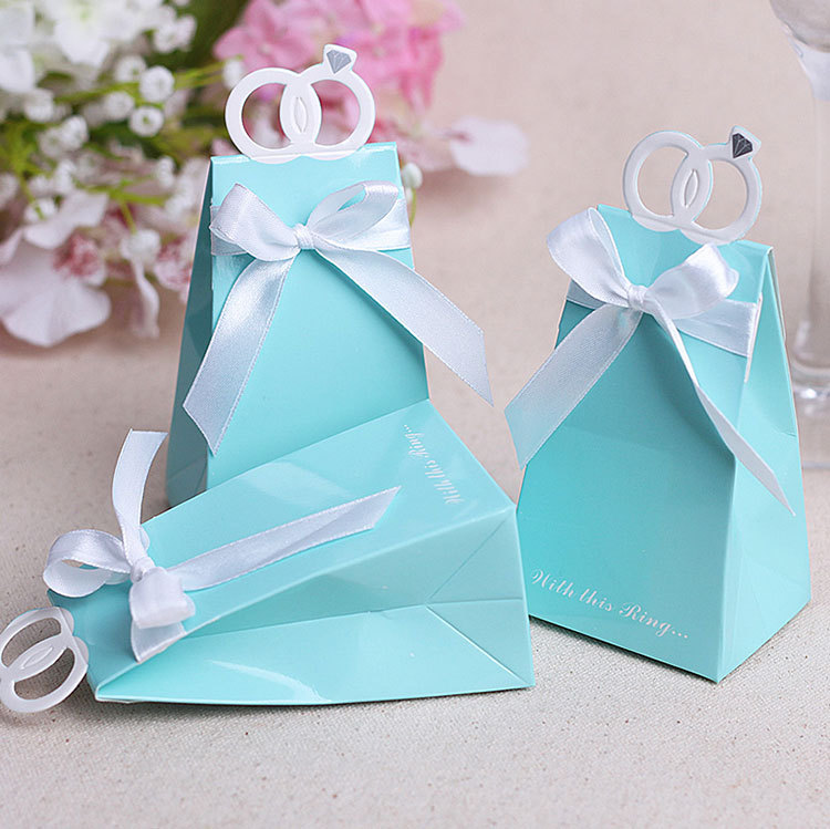 Bridal shower party favor boxes : Aliexpress buy diamond rings wedding candy boxes