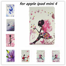 2015 New hot sell case cover for apple ipad mini 4 crystal diamond case for ipad mini4 mini 4 Retina case pu Leather case Cover(China (Mainland))