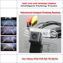 Buy Intelligent Parking Tracks Camera Volvo C70 V70 XC 70 XC70 2006~2015 Backup Reverse / NTSC RCA AUX HD SONY 580 TV Lines for $48.02 in AliExpress store