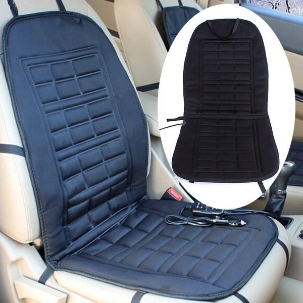 12V Car Van Front Seat Hot Heater Heated Pad Cushion Winter Warmer Cover Black(China (Mainland))
