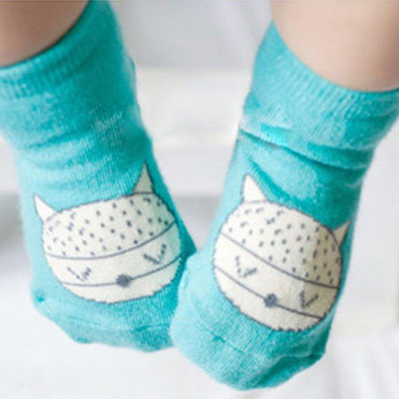 Animal Infant Baby Fox Printed Cotton Knee Socks Anti-slip Socks 0-4Y