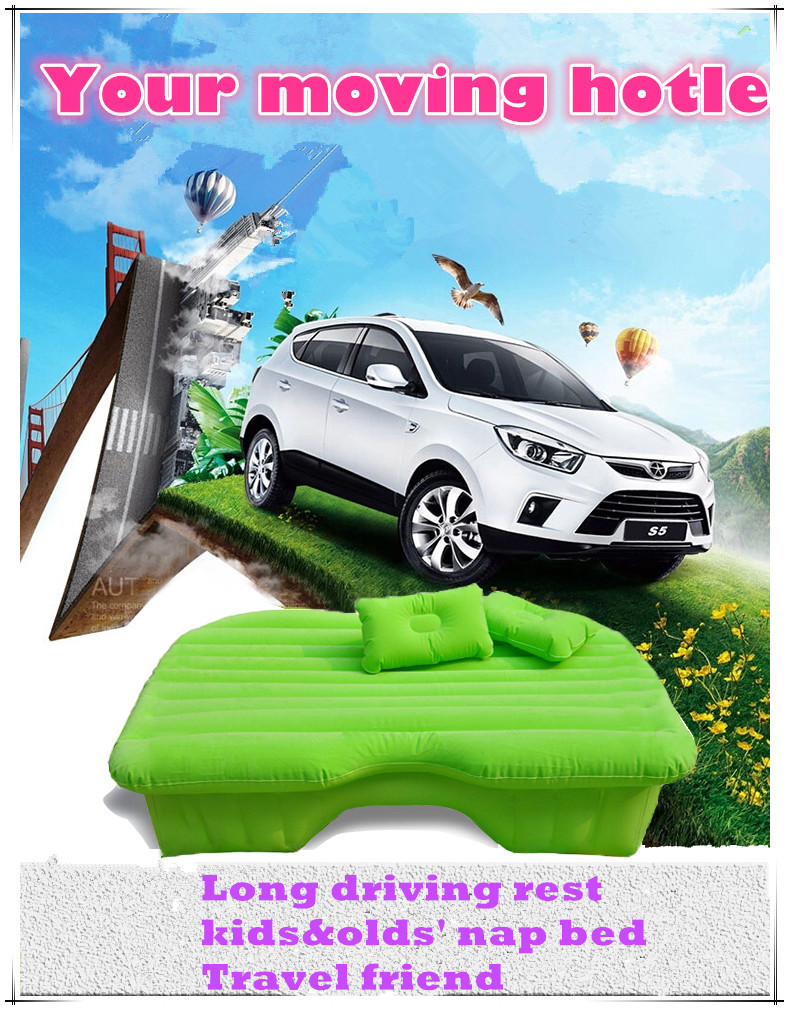 New Arrived Air Mattress Car Inflatable Travel Bed Self Driving Travel Bed Auto Sex PVC Mattress Seat with Pumb free shipping(China (Mainland))