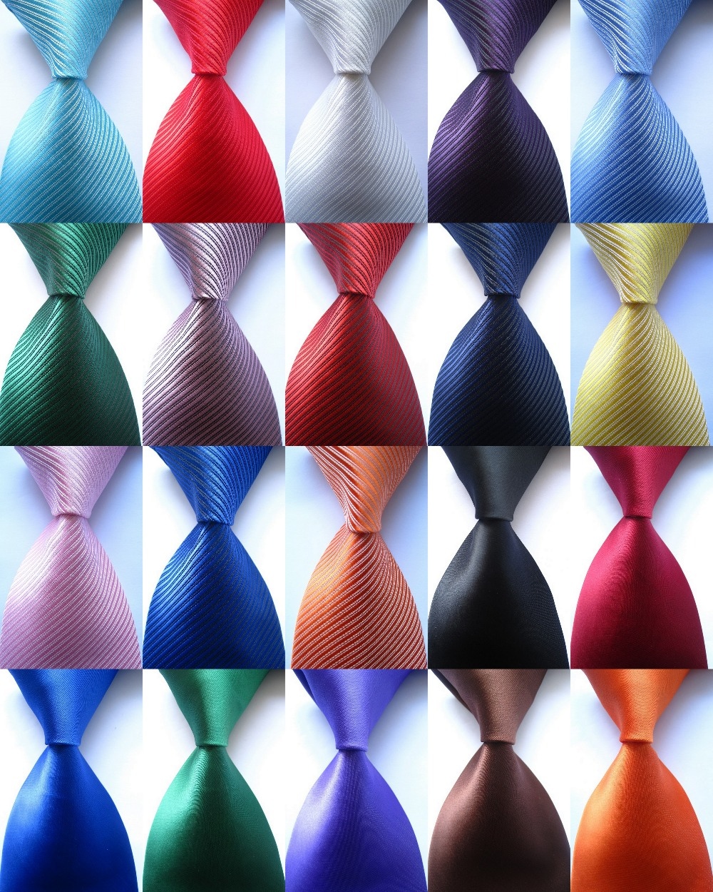2016 New Classic Solid Striped Plain 20Colors JACQUARD WOVEN Silk Polyester Men's Tie Business Wedding Party Luxury Necktie TX01(China (Mainland))