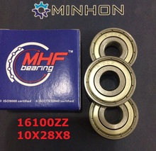 1pc 16100ZZ MHF ABEC-1/P0 Z2 Best shipping Miniature Deep Groove Ball Bearings Size 10x28x8 Lowest Price High Performance - MINHON INDUSTRY store