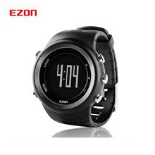 Ezon relojes digitales hombres velocidad calorías podómetro deportes exterior zapatillas para caminar senderismo militar a prueba de agua / T023