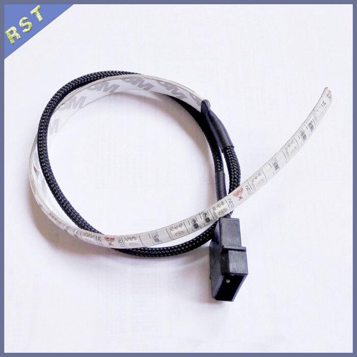 30/50/60cm 12V Molex 4Pin Power Supply SMD 5050 LED Flexible PC Computer Case Strip Light Self-Adhesive(China (Mainland))