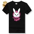 full cotton cute t shirt kawaii lovely Watch over character DVA rabbit logo t shirt DVA