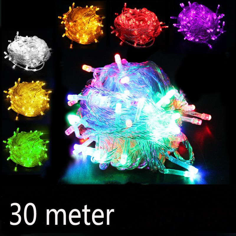 LED Lamp string Light belt 30 m/240 lights New year s Christmas Decorative Holiday String of ...