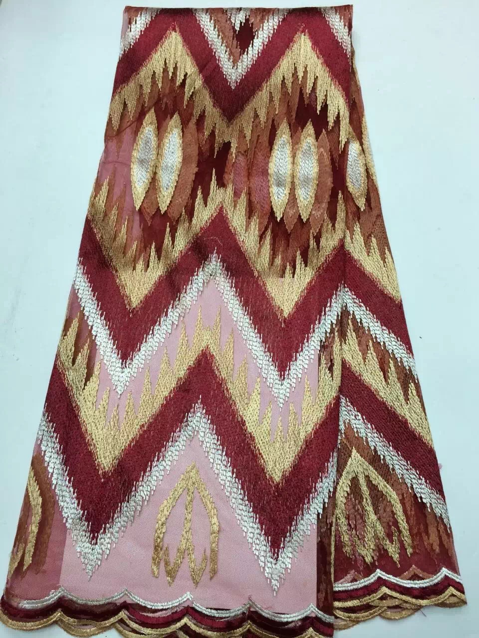 Big sale new design yarn dyed African kitted silk lace fabrics french net guipure for women dress 5yards free shipping(China (Mainland))