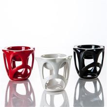 new high capacity handmade ceramic oil burners tealight candle holder(China (Mainland))