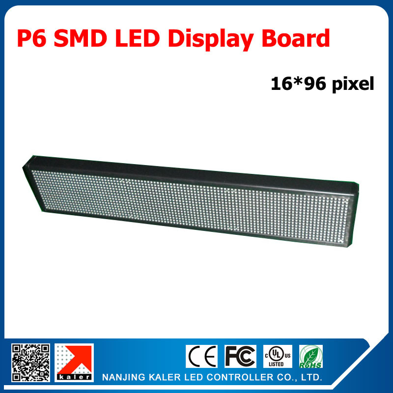 TEEHO 96*576mm Indoor Advertising RGB Led Display Panel P6 SMD LED Module 192*96MM 1/8 Scan Programmable Full Color LED Display(China (Mainland))