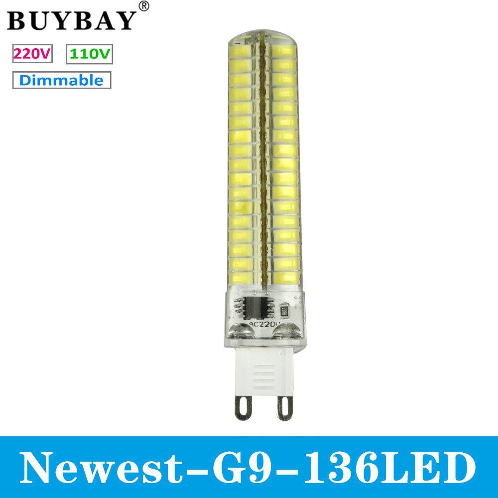 Newest product G9 LED Bulb SMD 5730 mini G9 LED lamp 220V/110V 136LED Chandelier Replace Halogen light dimmable lamp bulb(China (Mainland))