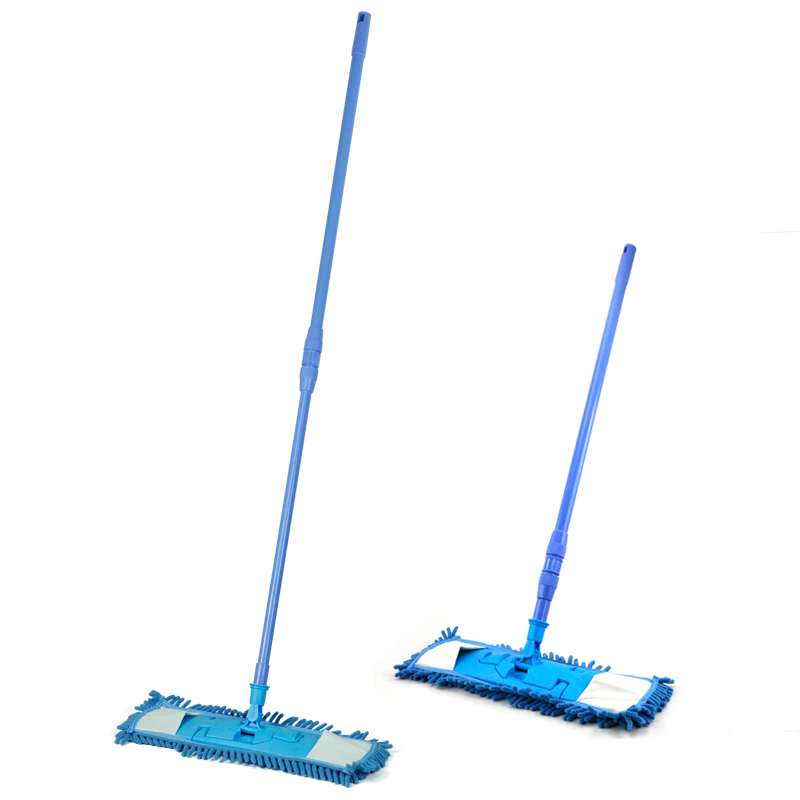 HGHO-New Extendable Microfibre Mop Cleaner Sweeper Wet Dry - Blue(China (Mainland))