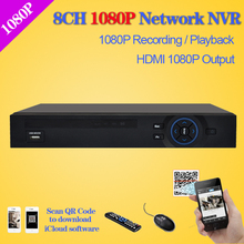 Buy nvr 8ch home security HDMI 1080P 8 channel real time recording HD 1080P NVR Onvif CCTV NVR surveillance Recorder ip cameras for $67.56 in AliExpress store