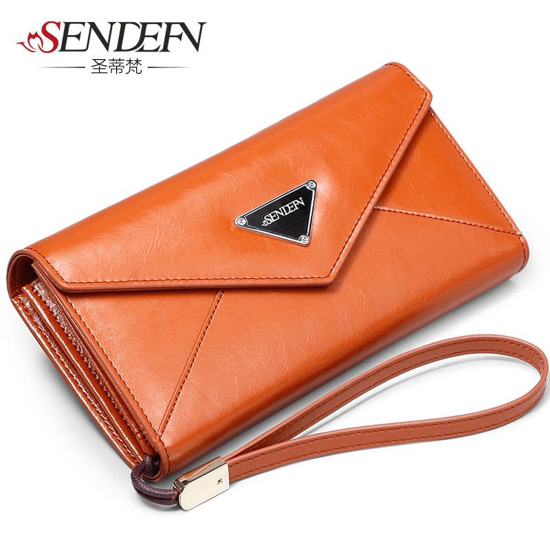 2015 Wallets New Mini Wallets Unisex Leather Ladies Purse Korean Large Capacity Long Wallet Zipper Bag Retro Direct Detonation<br><br>Aliexpress