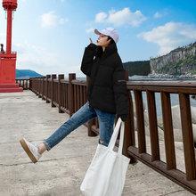 2019 Kış Parlak Aşağı Parka kadın Su Geçirmez Ceket Nakış ceket büyük boy Gevşek Kış sıcak Kalın Parka Kadın Ceket(China)
