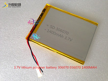 3.7V lithium polymer battery 306070 036070 GPS screen 1400MAH handwritten books