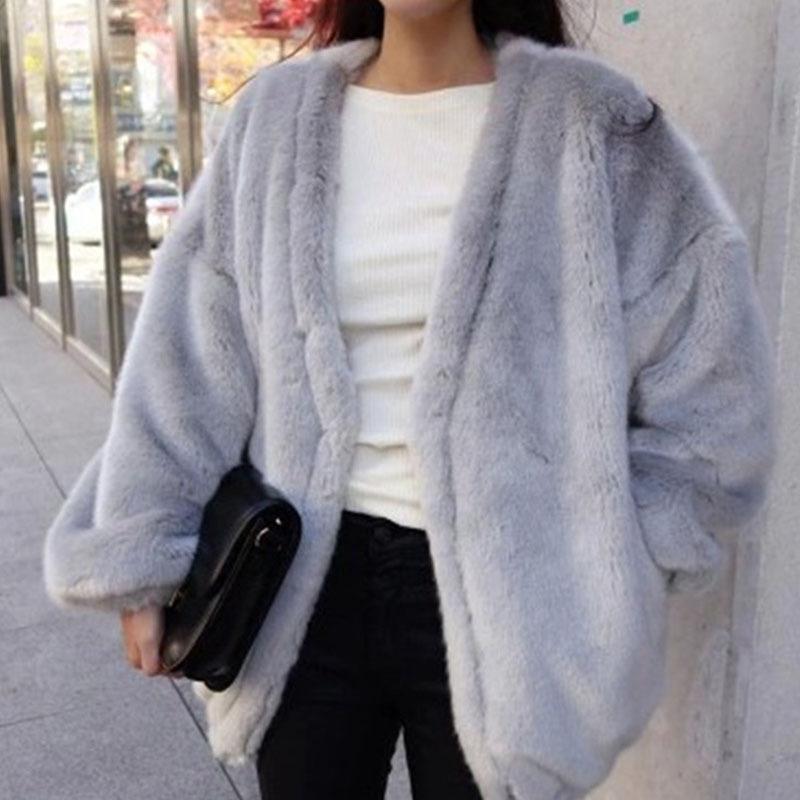 Grey Fur Coat