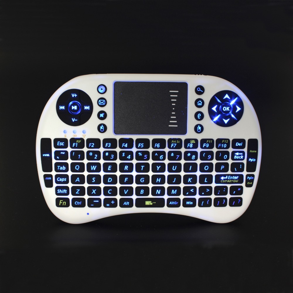 Best selling Mini Wireless Backlight Keyboard, 2.4GHz Keyboard with Battery, Touch pad Mouse for HTPC, Mini PC(Hong Kong)