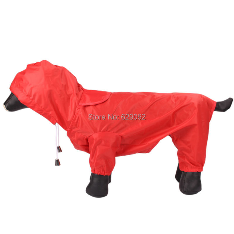 Small Dog raincoat Pet Waterproof clothing Dog's Outdoor Jackets Clothes rain coat For dogs(China (Mainland))