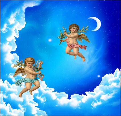 Heaven With Baby Angels Background Download