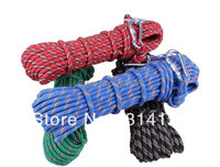 free shipping 10metre Diameter: 10mm Escape rope, climbing rope Outdoor Survival