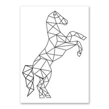 Nordic Pictures Minimalist Abstract Line Animal Poster Canvas Kindergarten Wall Printing Modern Children'S Bedroom Decoration(China)