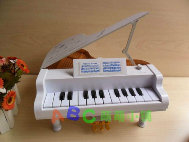 Free Shipping White 14 Key Electronic piano Toy Musical Instrument Emulate Children Simulation Music NO3687(China (Mainland))