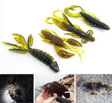 Ice fishing lure soft bait sea fishing tackle jig wobbler swivel rubber lure fishing kit silicone bait protein soft worm shrimp