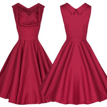 Women Audrey Hepburn 1950s Style Vintage Retro Rockabilly Cocktail Party Swing Dresses Women Ball Dresses # A6517(China (Mainland))