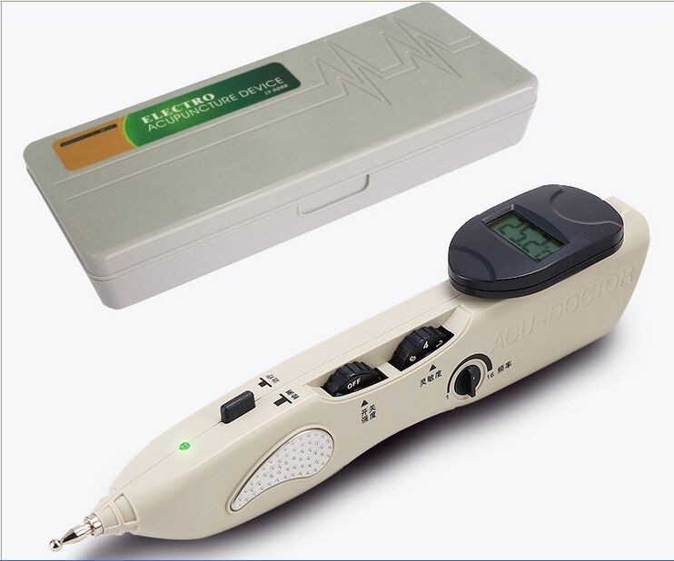 New Stimulator CE LCD Electronic Automatically Acupuncture Needle Pen Electro Acupuncture Device T.E.N.S. and Point Detector(China (Mainland))